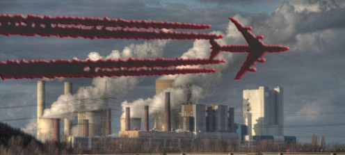 Chemtrails Jet and Coal Plant